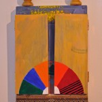 Hottest summer on record, 2014, oil and acrylic on linen and hinged pine, 30 x 50cm (closed)