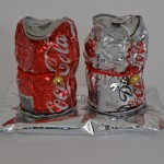 Drink life 2014 aluminium can over plaster, cord, metal bell 12x 19x 9cm