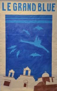 Le grand Bleu poster, 2016, Acrylic on canvas, 95 x 145c