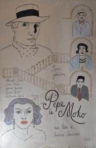 Pepe le Moko poster, 2016, Acrylic on canvas, 95 x 145cm